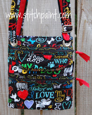Crossbody Bag | Stitchpaint | Dog Love Front