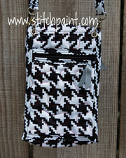 Mini Crossbody Phone Bag Back | Houndstooth | Stitchpaint