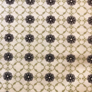 14 Yard Bolt Black Cream Floral Fabric