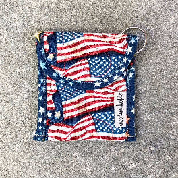 Credit Card Fob | Keychain Card Wallet | Stitchpaint | American Flag