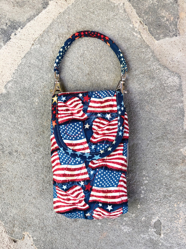 Phone Pouch | Cell Phone Case with Strap | Stitchpaint | American Flag