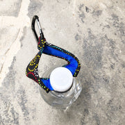 Carabiner Bottle Strap Top View | Dog Love Swirl Fabric | Stitchpet