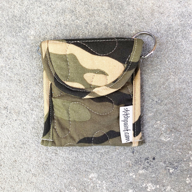 Credit Card Fob | Keychain Card Wallet | Stitchpaint | Green Camo