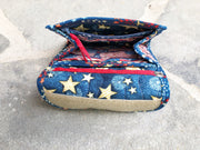 Quilted Fabric Mini Wallet Organizer Inside | American Flag Fabric | Stitchpaint
