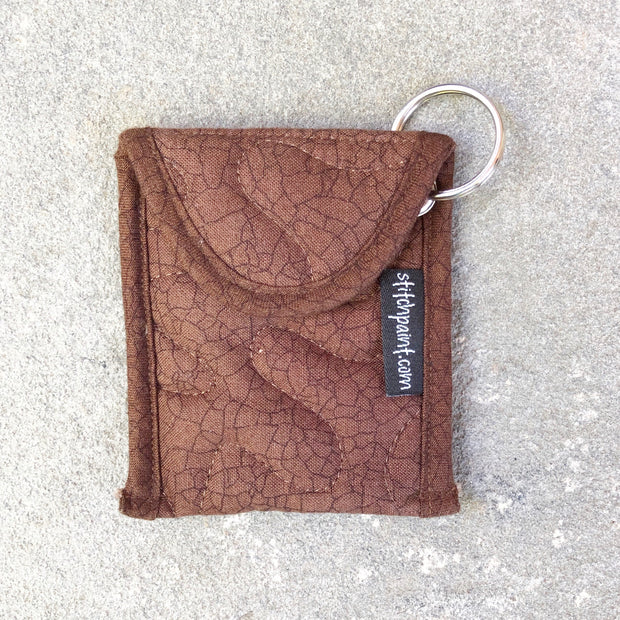 Credit Card Fob | Keychain Card Wallet | Stitchpaint | Brown Crackle