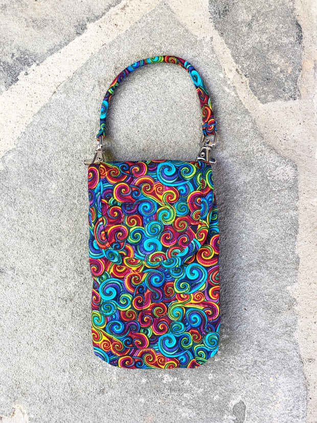 Phone Pouch | Cell Phone Case with Strap | Stitchpaint | Swirls