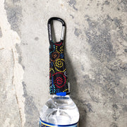 Carabiner Bottle Strap | Dog Love Swirl Fabric | Stitchpet
