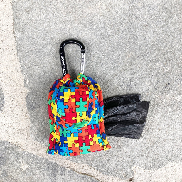 Poo Bag Pouch | Puzzle Fabric | Stitchpet
