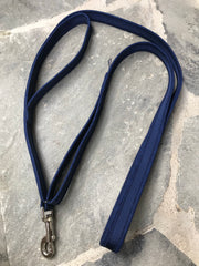 Double Handle Dog Leash | Navy Navy | Stitchpet