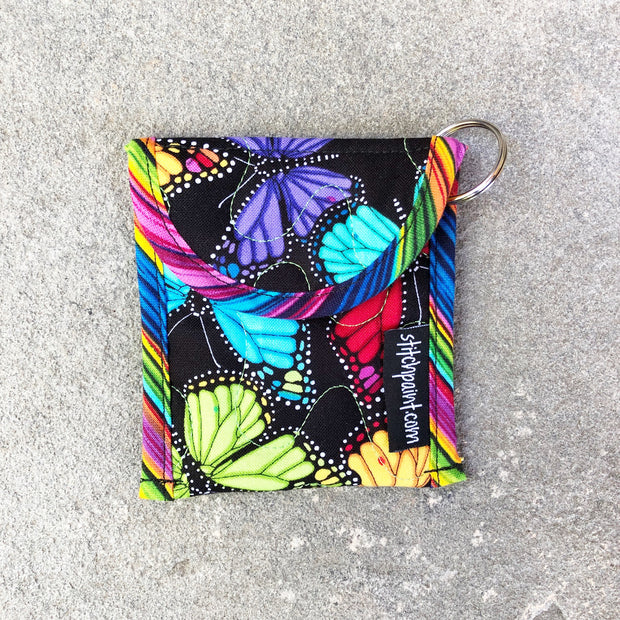Credit Card Fob | Keychain Card Wallet | Stitchpaint | Butterflies