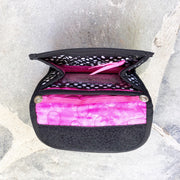 Mini Wallet Inside | Dot Pink Fabric | Stitchpaint