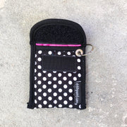 Credit Card Fob | Keychain Card Wallet | Stitchpaint | Dot Pink