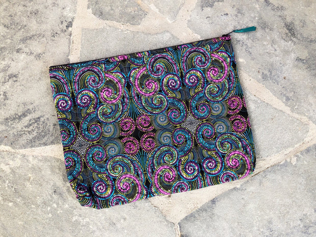 Large Zipper Pouch | Large Fabric Zipper Case | Stitchpaint | Kaleidoscope