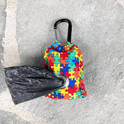 Poo Bag Pouch Back | Puzzle Fabric | Stitchpet