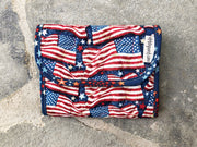 Quilted Fabric Mini Wallet Organizer | American Flag Fabric | Stitchpaint