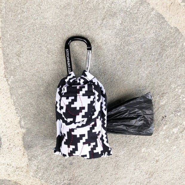 Poo Bag Pouch | Houndstooth Fabric | Stitchpet