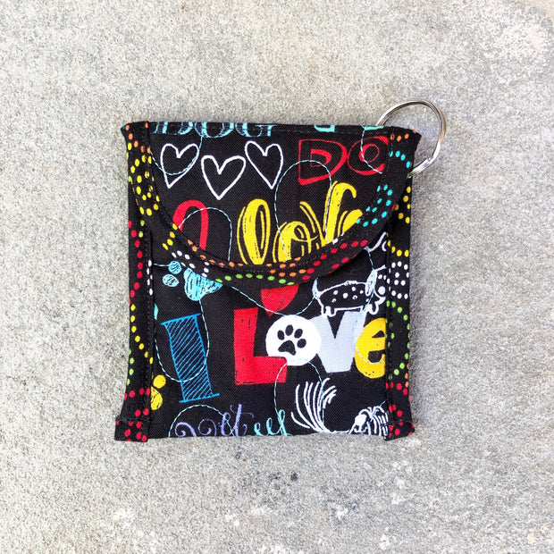 Credit Card Fob | Keychain Card Wallet | Stitchpaint | Dog Love
