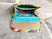 Quilted Fabric Mini Wallet Organizer Inside | Chloe Fabric | Stitchpaint