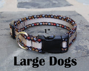 Large Boutique Dog Collars | Dogs Paw Print