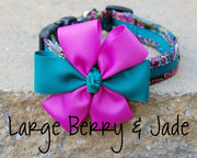 Large Kaleidoscope Dog Bow | Stitchpet