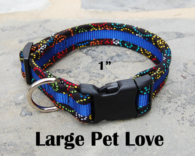 Large Dog Love Dog Collar | Stitchpet
