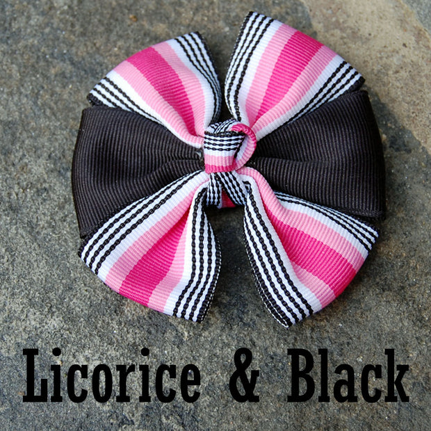 Boutique Dog Bows | Licorice & Black | Stitchpet