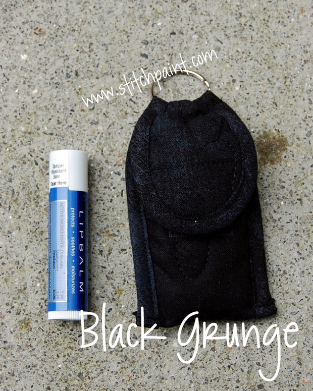 Lip Balm Case | Black Grunge