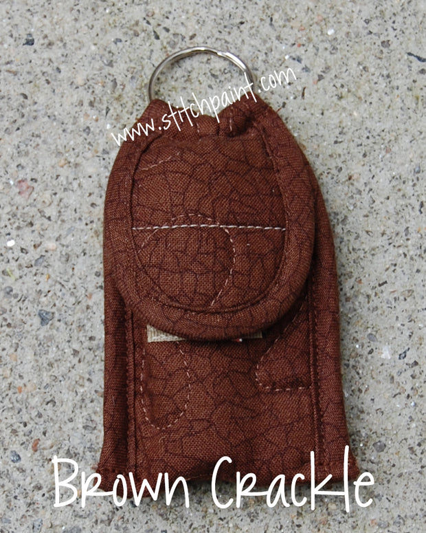 Lip Balm Case | Brown Crackle