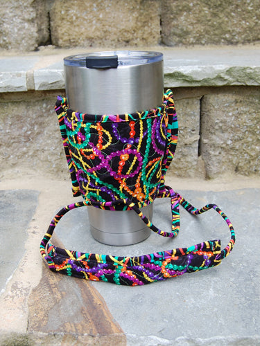 Drink Carrier | Mardi Beads Fabric | Stitchpaint