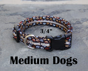Medium Boutique Dog Collars | Dogs Paw Print