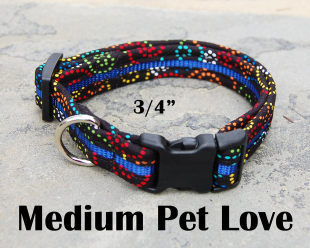 Medium Dog Love Dog Collar | Stitchpet