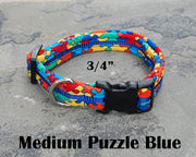 Medium Boutique Dog Collar | Puzzling | Stitchpet