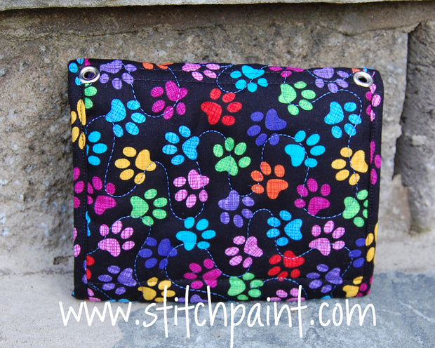 Mini Wallet Back | Paws Fabric | Stitchpaint