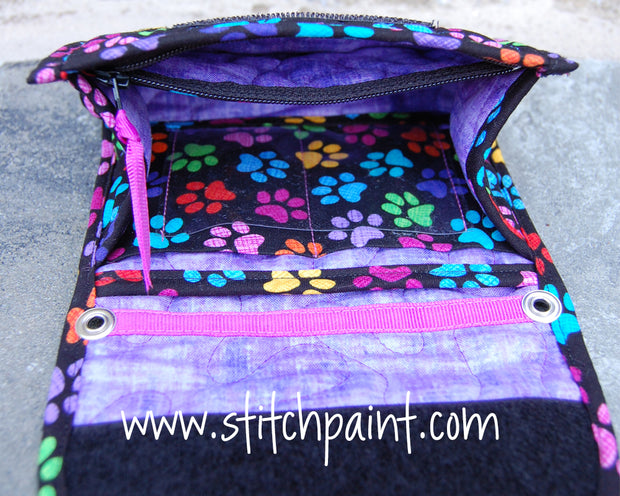Mini Wallet Inside | Paws Fabric | Stitchpaint
