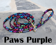 Paws Purple Dog Leash 5/8"