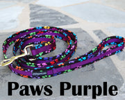 Paws Purple Dog Leash 1"