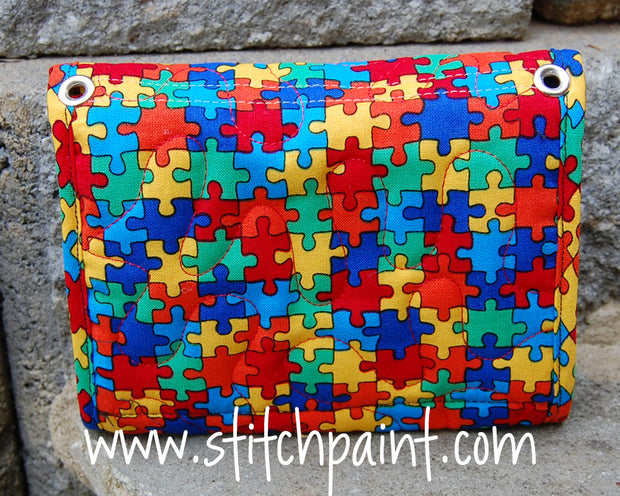 Mini Wallet Back | Puzzling Fabric | Stitchpaint