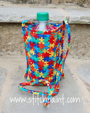 Bottle Pouch | Puzzling Fabric | Stitchpaint