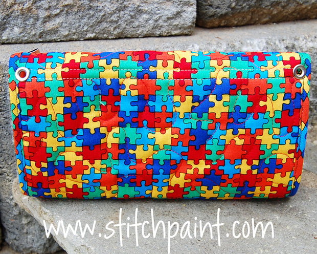 Clutch Wallet Back | Puzzling Fabric | Stitchpaint