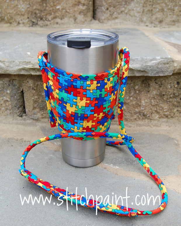 Drink Carrier | Puzzling Fabric | Stitchpaint
