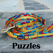 Puzzle Autism Awareness Dog Leash | Stitchpet Yellow