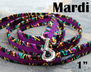 Mardi Ribbons Dog Leash 1"