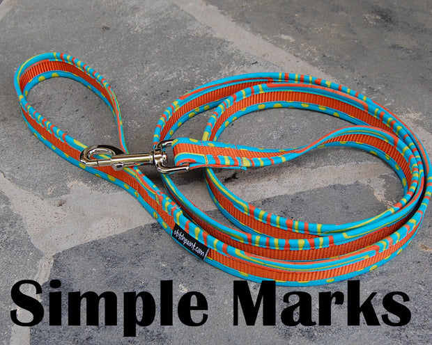 Simple Marks Dog Leash | Stitchpet
