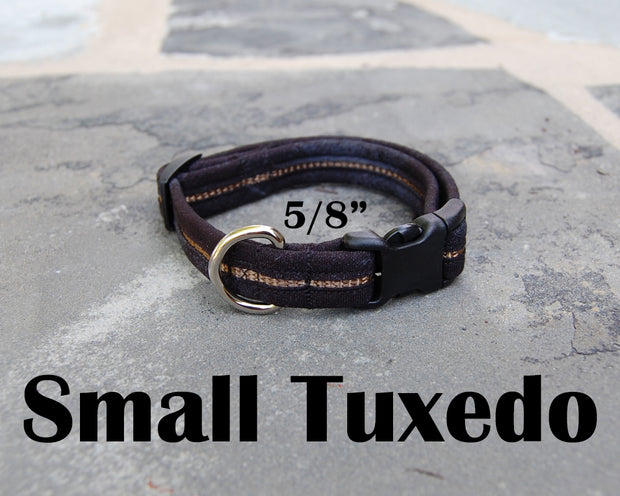 Small Boutique Dog Collars | Tuxedo