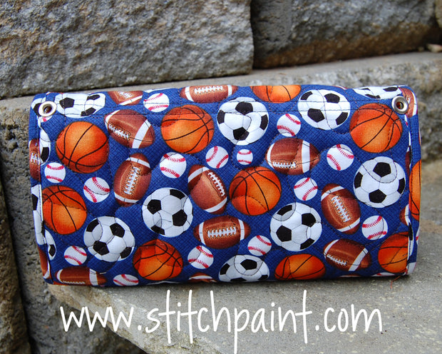 Clutch Wallet Back | Sporty Fabric | Stitchpaint