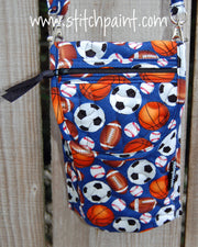 Mini Crossbody Phone Bag Front | Sporty | Stitchpaint