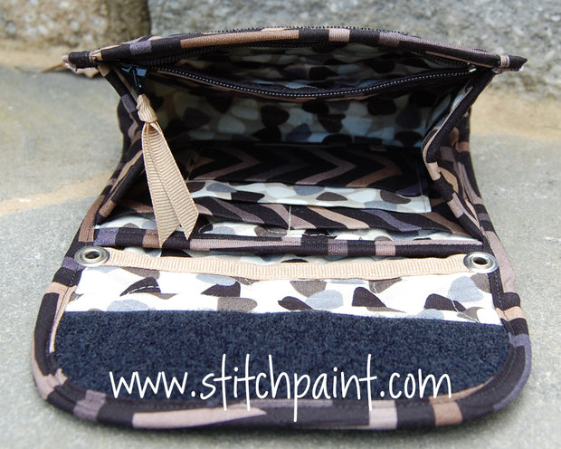 Mini Wallet Inside | Stitchpaint | Tiger Eye Fabric
