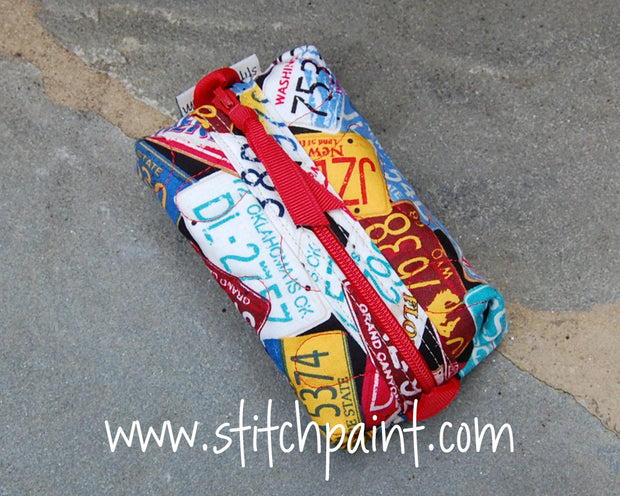 Zip Pocket Tissue Case | Traveling Fabric | Stitchpaint