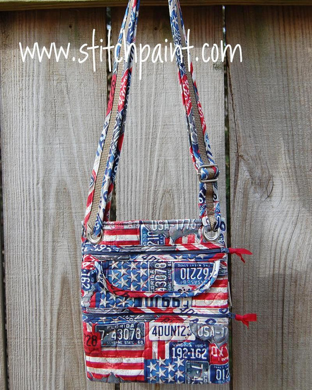 Crossbody Bag | Vintage Fabric | Stitchpaint