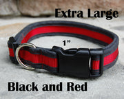 X-Large Red & Black Dog Collar | Stitchpet